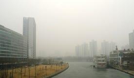 Загрязнение воздуха в Пекине Стоковые Изображения