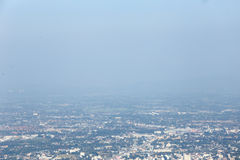 Загрязнение воздуха в северной Таиланда Стоковое Изображение