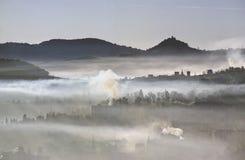 загрязнение города Стоковое фото RF