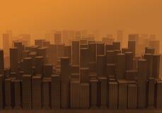 загрязнение города Стоковое Изображение