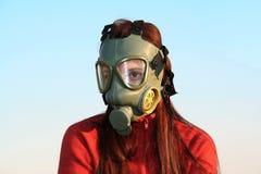 загрязнение маски противогаза экологичности Стоковая Фотография