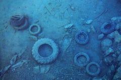 Загрязнение моря стоковые фотографии rf