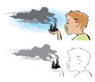 Загрязнение окружающей среды Стоковое Фото