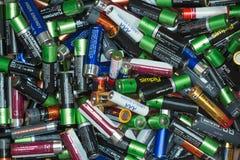 Загрязнение от батарей стоковые фотографии rf
