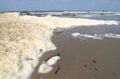 загрязнение пляжа Стоковое Изображение