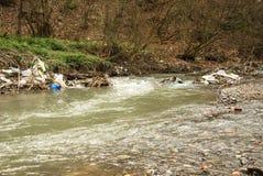 Загрязнение реки Стоковое Изображение RF