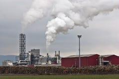 загрязнение фабрики обрабатывая древесину Стоковая Фотография RF