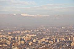загрязнение фабрики предпосылки воздуха голубое Стоковое Изображение RF