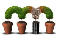 Загрязненная концепция окружающей среды иллюстрация штока