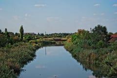 Загрязнянный канал Стоковая Фотография