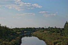 Загрязнянный канал Стоковые Фото