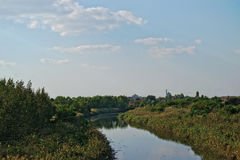 Загрязнянный канал Стоковое Изображение RF