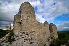 Загубите замок hradek Sirotci замка в чехии Стоковое фото RF