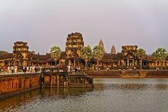 3 загубили башни парадного входа в Angkor Wat Стоковые Изображения RF