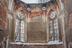 Загубленная церковь в Польше стоковые фотографии rf