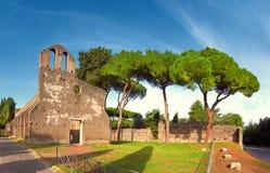 Загубленная церковь Сан Nicola каподастр di Bove на Аппиевой дороге в Риме Стоковое Изображение