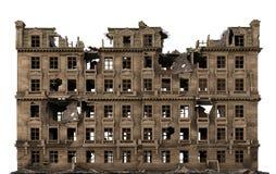 Загубленное здание изолированное на белой иллюстрации 3D Стоковые Фотографии RF