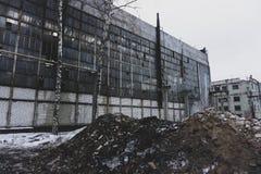 Загубленное промышленное здание, руины и подрывание фабрики Стоковая Фотография RF