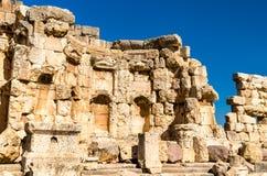 Загубленные стены гелиополя на Баальбеке, Ливане стоковые фото