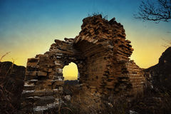 Загубленная Великая Китайская Стена Стоковое Фото