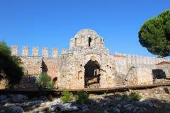 Загубленная византийская церковь внутри замка Alanya Alanya, Турции Стоковые Фото