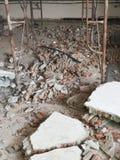 Загубленная кирпичная стена Стоковые Изображения