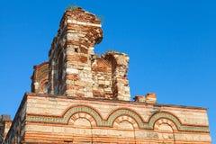 Загубленная церковь Христоса Pantokrator, в старом Nessebar Стоковое фото RF