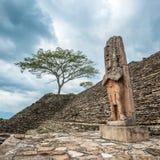 Загубленный майяский город Tonina, Чьяпас, Мексика Стоковое фото RF