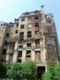 Загубленный дом призрака в городе Стоковая Фотография RF