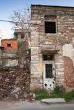 Загубленный старый живущий фасад дома, старый городок Izmir Стоковые Изображения
