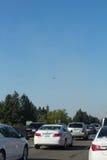 Заглушенное движение на I-5 к югу от Олимпии Стоковое Изображение RF