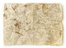 задавленная пакостная старая бумага Стоковые Фото