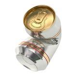 задавленная чонсервная банка пива 01 Стоковое Изображение RF
