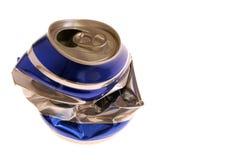 задавленная чонсервная банка пива Стоковое фото RF