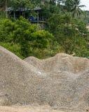задавленный камень кучи стоковая фотография rf