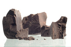 задавленный шоколад Стоковая Фотография