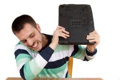 задавливать мою тетрадь Стоковое Изображение RF