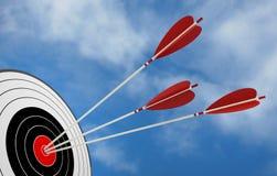 Задача стрелки цели Стоковые Фото