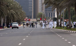 задача экстренныйого выпуска офицера усилия Дубай Стоковая Фотография