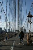 задействовать brooklyn моста стоковые фотографии rf