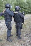 Задержание полиции террористов стоковое фото rf