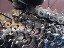 задий mountainbike кассеты стоковое изображение