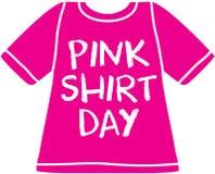 Задирать останавливает здесь - розовый день рубашки Стоковые Фото