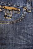заднее большое карманн джинсыов Стоковые Изображения RF
