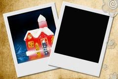 заднее изображение дома рамки рождества Стоковые Изображения