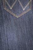 заднее карманн голубых джинсов Стоковое Фото