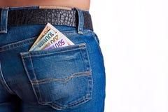 заднее карманн дег джинсыов девушок Стоковые Фотографии RF