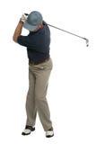 заднее качание игрока в гольф Стоковые Фото