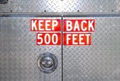 заднее предупреждение firetruck расстояния Стоковое Изображение RF