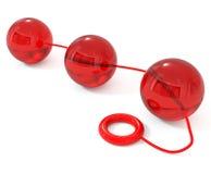 заднепроходная изолированная белизна игрушки секса Стоковое Изображение